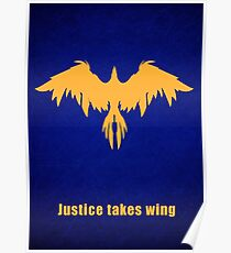 Justice takes wing Poster