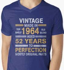1964-52 years perfection!  Men's V-Neck T-Shirt
