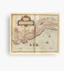 Vintage Map of Peru (1638) Metal Print