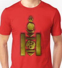 Soyombo Ideogram in metallic gold Unisex T-Shirt
