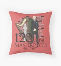 120 Music Masterpieces Throw Pillow
