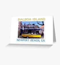 Balboa Island Boat Car- Newport Beach Greeting Card