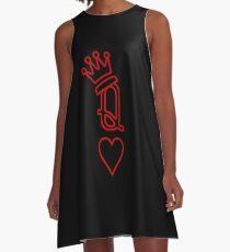 Herzkönigin A-Linien Kleid