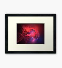 Pink Blue Fish Framed Print
