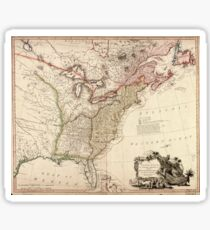 Vintage Map of North America Sticker