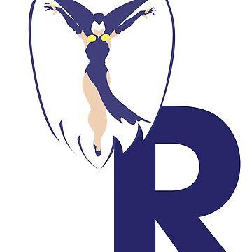 Raven - Superhero Minimalist Alphabet Clothing by justicedefender