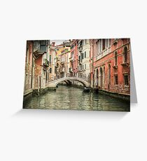 Venetian  Canal Greeting Card