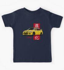 Mitsubishi Lancer Evolution VIII (Yellow) Kids Tee
