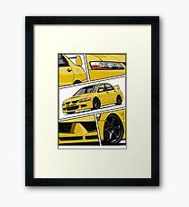 Lancer Evolution VIII (Yellow) Framed Print