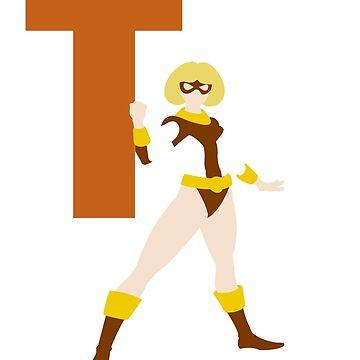 Terra - Superhero Minimalist Alphabet Clothing by justicedefender
