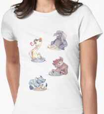 Omnichord Animals Women's Fitted T-Shirt