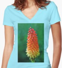 The Flame Women's Fitted V-Neck T-Shirt