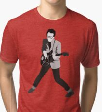 Elvis Costello Print Tri-blend T-Shirt