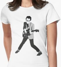 Elvis Costello Print Women's Fitted T-Shirt