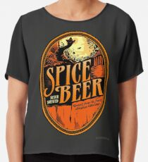 Spice Beer Label Chiffon Top