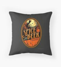 Spice Beer Label Throw Pillow