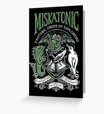 Miskatonic Esoteric Order of Explorers Greeting Card