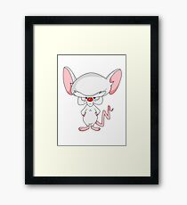 Pinky and The Brain - Brain Framed Print
