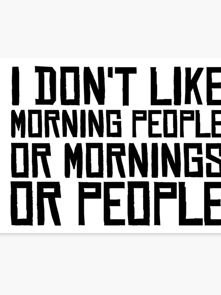 Morning People Hate Funny Sarcastic Quotes Coffee | Canvas Print