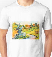Donkey~Pembroke Corgi Dog~Approach~Cripple Creek~Colorado Unisex T-Shirt