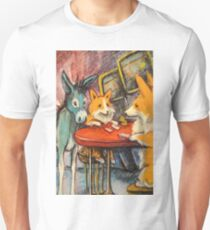 Donkey~Pembroke Corgi~Dog~Gamble~Cripple Creek Colorado Unisex T-Shirt
