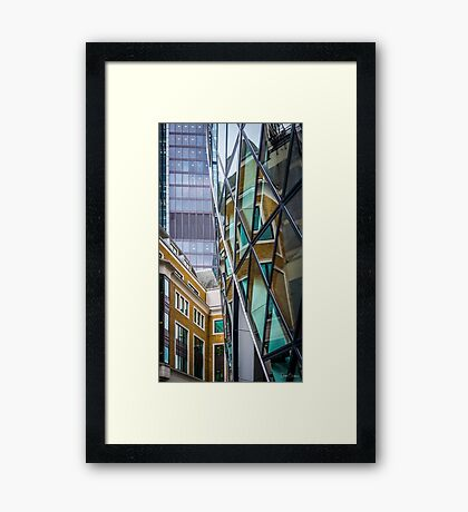 Reflections in a Gherkin Framed Print