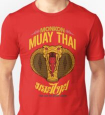 monkon muay thai cobra thailand martial art sport logo new color T-Shirt