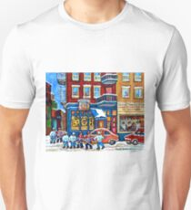 ST.VIATEUR BAGEL MONTREAL WINTER HOCKEY GAME T-Shirt