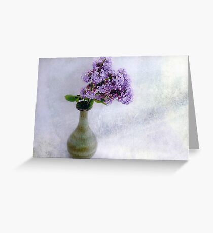 Lilac Time Still Life Greeting Card
