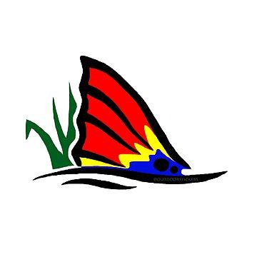 Cola de pez rojo en hierba de Statepallets