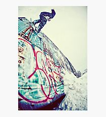 Urban Snowboarding in Plymouth Photographic Print