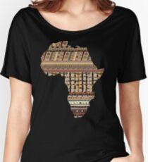 Africa map pattern Africa t-shirt Women's Relaxed Fit T-Shirt