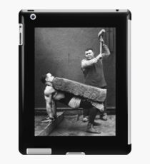Strong Man with Slab and Sledge Hammer iPad Case/Skin