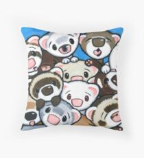 16 Ferrets Throw Pillow