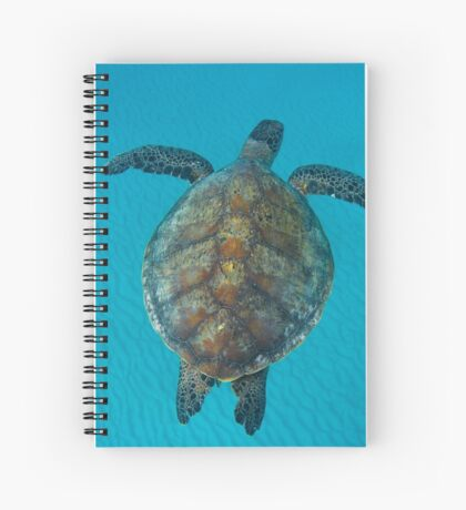 Peace turtle - print Spiral Notebook