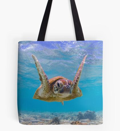 Joyful turtle - print Tote Bag
