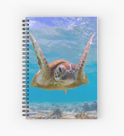 Joyful turtle - print Spiral Notebook