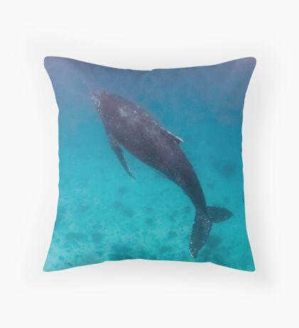 Whale wonders - print Throw Pillow