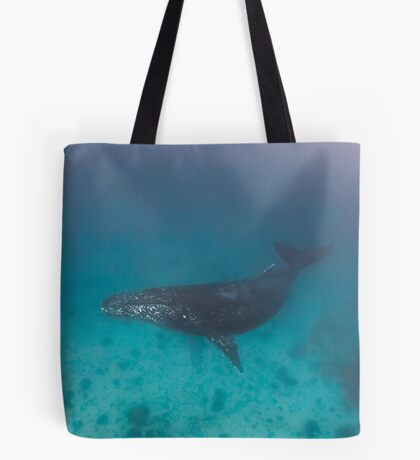 Whale swimming - print Tote Bag