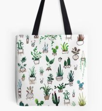 Succulent Plants Watercolor Tote Bag