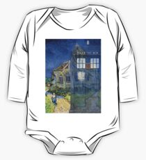 Dr., Van Gogh and the Church at Auvers One Piece - Long Sleeve