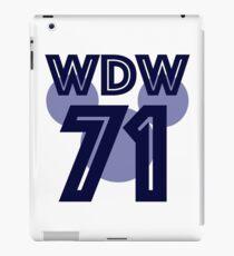 wdw jersey iPad Case/Skin