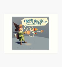 """The wizard casts """"Magic Missile"""" Art Print"""