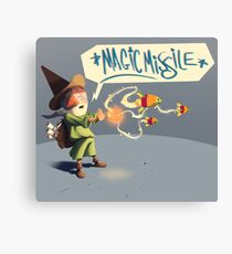 """The wizard casts """"Magic Missile"""" Canvas Print"""