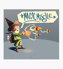"The wizard casts ""Magic Missile"" Photographic Print"