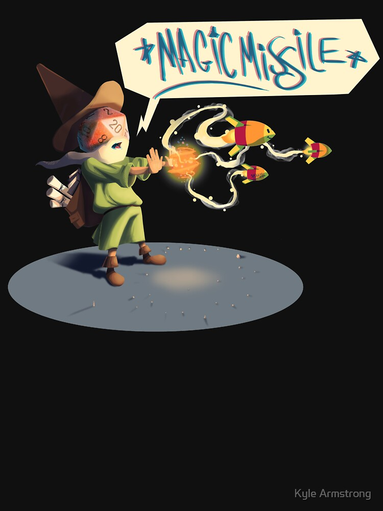 """The wizard casts """"Magic Missile"""" by kyle-sans-kyle"""
