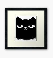 Big Little Cat Framed Print