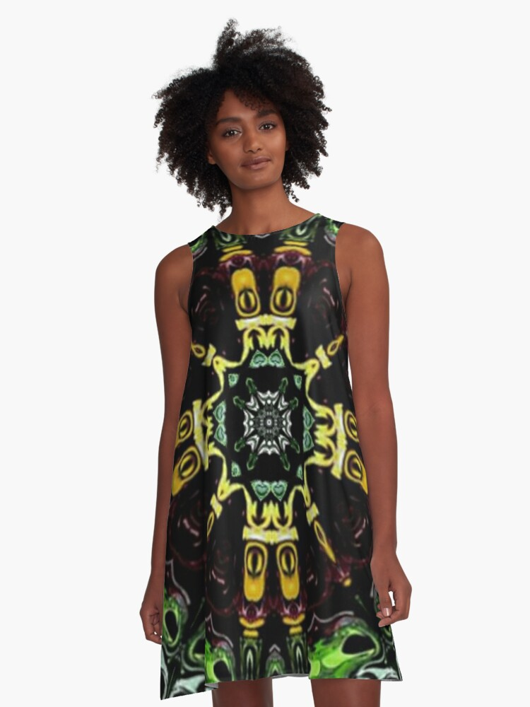 Space Tracer A-Line Dress Front