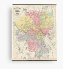 Vintage Map of Providence Rhode Island (1899) Canvas Print