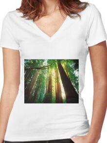 Redwoods Women's Fitted V-Neck T-Shirt